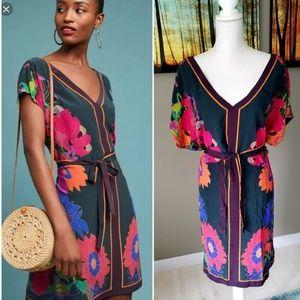 Anthropologie Maeve Brampton Silk Dress